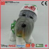 Realistisches Plüsch-Spielzeug angefüllter stehender Hund im Tuch