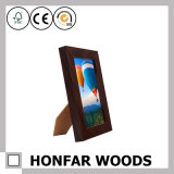 """黒い木製の永続的な映像の写真フレームの入り口のサイズ5 """" X7 """""""