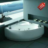 Bañera de acrílico de la esquina del masaje de la fibra de vidrio de la buena calidad (M-2043)