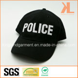 Бейсбольная кепка вышивки полиций сверла хлопка воинская черная