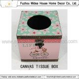 아름다운 꽃 디자인 조직 상자