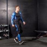 人の圧縮の体操の通気性のカムフラージュの連続した適性のスポーツ・ウェア