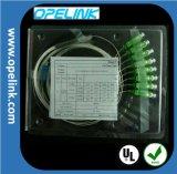 Divisor del PLC de la telecomunicación 1X8 Blockless de Gpon