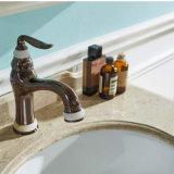 Weißes Lack-amerikanisches Eichen-Badezimmer-gesundheitlicher Schrank (GSP14-026)