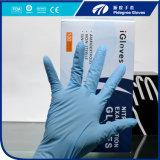 Перчатки нитрила рассмотрения порошка высокого качества свободно