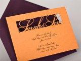 Etiqueta de plástico comprable del laser del CO2 del CNC para la venta de la invitación de boda