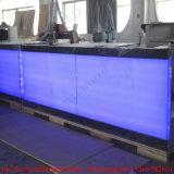 LED 현대 바 카운터 디자인을 바꾸는 주문을 받아서 만들어진 기성품 구부려진 가정 색깔