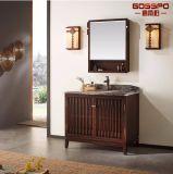 スペイン様式の純木のマホガニーの浴室のフロア・キャビネット(GSP9-008)