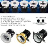 La lámpara 10W 12W LED de la MAZORCA LED abajo se enciende