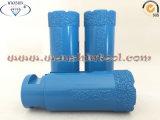Vakuum hartgelöteter trockener Bohrmeißel für Porcelainware Steingut-Bohrmeißel