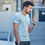 卸売人映像の円形の首の不足分の袖のTシャツのための最新のデザインOEMの100%年の綿の夏のワイシャツ