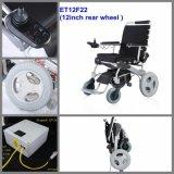 최신 판매! 새로운 혁신적인 디자인 8, 10 의 세륨 증명서, 5개의 호의적인 각을 기우는 뒤 나머지를 가진 12의 힘 전기 접히는 휠체어에 의하여 자동화되는 휠체어