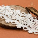 卸売によって刺繍されるオーガンザの白いレースのトリミング