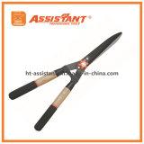 Падение выковало прямые ножницы изгороди лезвия с ручками золы деревянными