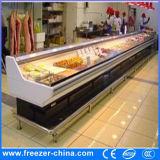 Refrigerador de la visualización de los mariscos/de la carne de la baja temperatura