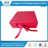 結婚式の招待の空想リターンギフト用の箱のための卸し売り絹のリボンボックス