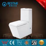 Toilette d'une seule pièce de salle de bains blanche de couleur (BC-1002A)