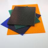 Folha de folha contínua de policarbonato fosco folha oca ondulada com proteção UV