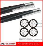 Duplex-, Triplex, Quadruplex zusammengerolltes Luftkabel mit ASTM, BS-Standard