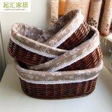 Cestino Handwoven promozionale del salice del commercio all'ingrosso Handmade decorativo del contenitore (BC-ST1245)