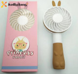 Промотирование охлаждая Princess Кролика Сподручн Вентилятор портативного перезаряжаемые шаржа миниый