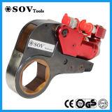 Llave inglesa de torque hidráulica del émbolo hueco de aluminio con la reducción de la funda