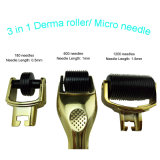 De Micro- van Derma Rol van de Naald met Telling van de Naald van 3 de Afzonderlijke Hoofden van de Rol 180c 600c/1200c
