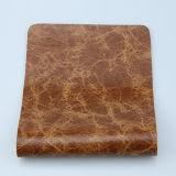 O couro lustroso o mais barato do plutônio do falso da mobília para o Upholstery do sofá (F8002)