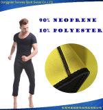 Mann-Neopren ultra schwitzte Oberseiten und keucht Bodysuit-heiße Former
