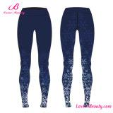 OEMは印刷されたスポーツのタイツの女性92ポリエステルを8本のスパンデックスのズボンのレギング整備する