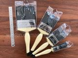 Pennello di legno della maniglia con il materiale nero della setola