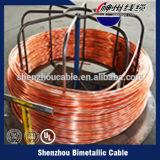 Fio de alumínio folheado de cobre do enrolamento do CCA do fio