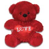 Orso con il giocattolo su ordinazione della peluche del cuore