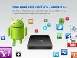 Quadrato Android della ricevente del Internet di Amlogic S905 della casella di A95X TV