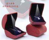 Специальная коробка /Ring ювелирных изделий верхнего качества формы более дешевая с светом СИД