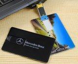 Movimentação feita sob encomenda do flash do USB do cartão de crédito do negócio do logotipo do presente 2017 relativo à promoção com amostra livre