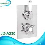 Articles sanitaires de salle de bains dans le mélangeur thermostatique en laiton de douche de la température de mur