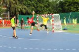 Le sport de verrouillage durable extérieur de handball de /Indoor va au devant des carrelages de handball de plancher