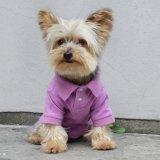 Ropa elástico de la camiseta del polo del perro de animal doméstico del peluche del algodón puro del verano