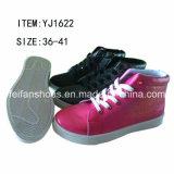 PU впрыски вскользь ботинок женщин резвится ботинки (FFYJ1224-01)