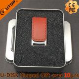 Flash promozionale del USB del cuoio del regalo dei commerci all'ingrosso (YT-5116-01)