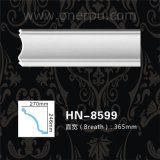 Décoration de moulage Hn-8599 de plafond d'unité centrale de corniche de polyuréthane de garniture de crique d'unité centrale