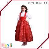 새로운 간단한 Skirt Stage Dress Dress 공주 황색 복장