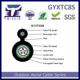 Ao ar livre Auto-Suportar cabo blindado da fibra óptica do fio de aço