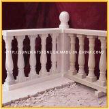 Marbre/balustrade blancs balustre de pierre/de pierre de balustrade pêche à la traîne de granit pour l'escalier