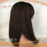 Peluca superior de seda vendedora superior del cordón de Glueless del pelo humano (PPG-l-0761)