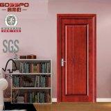Puerta de madera de la posición de la puerta de la chapa de encargo interior del MDF (GSP8-030)