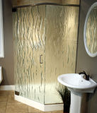 Frameless modelou/porta de vidro Textured do chuveiro