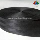Tessitura di nylon nera della cintura di sicurezza da 2 pollici