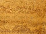 壁のための金の黄色いLimstoneのアルミニウム蜜蜂の巣によって支持される石造りのパネル